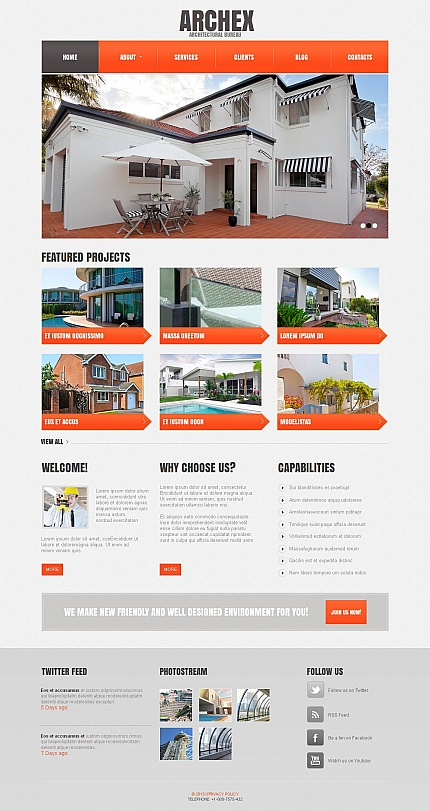 ADOBE Photoshop Template 44350 Home Page Screenshot