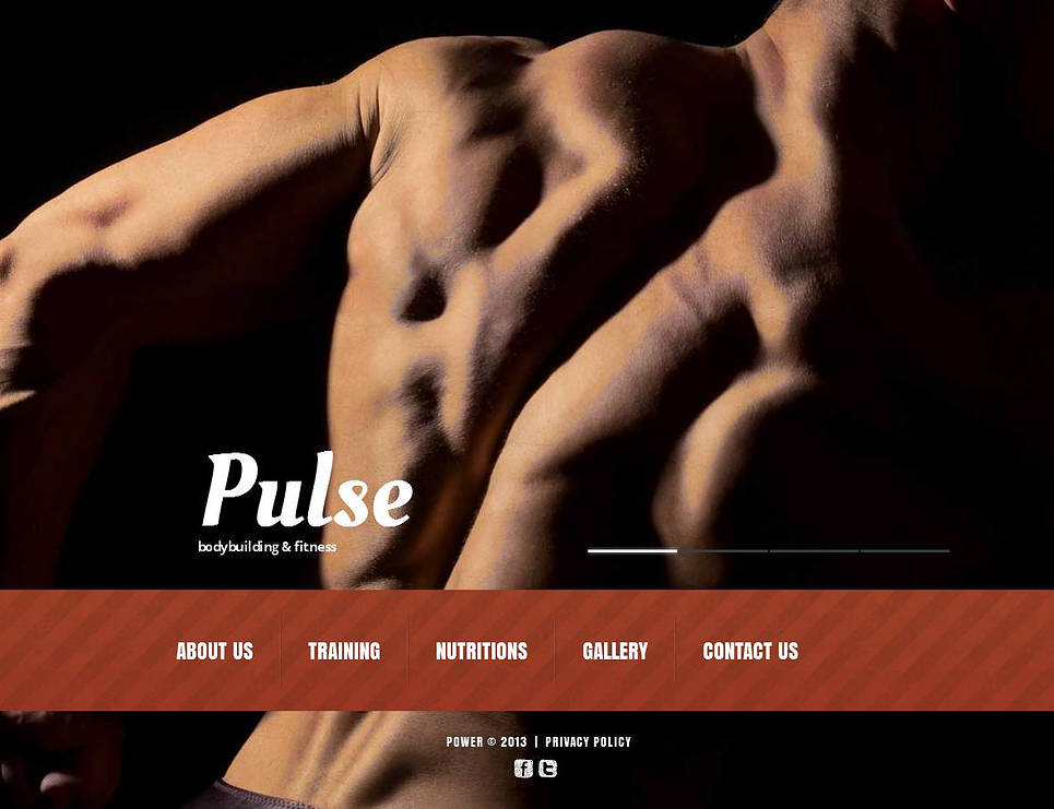 Bodybuilding Website Template with Bottom Navigation Bar - image