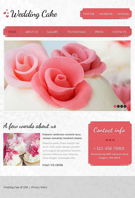 ADOBE Photoshop Template 44356 Home Page Screenshot