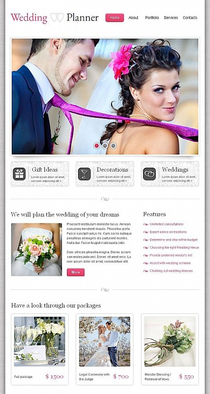 ADOBE Photoshop Template 44357 Home Page Screenshot
