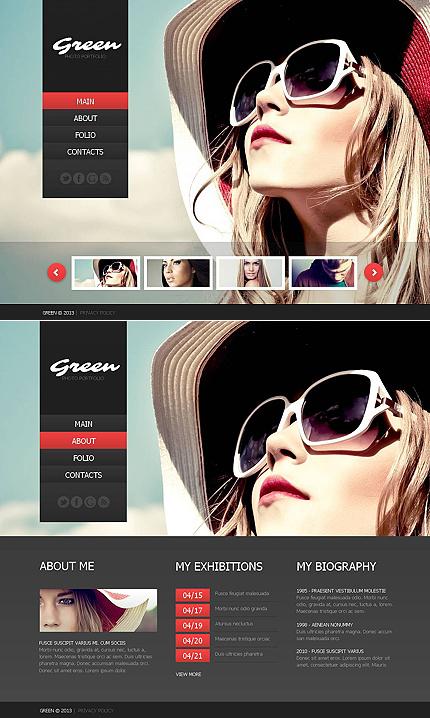 ADOBE Photoshop Template 44367 Home Page Screenshot