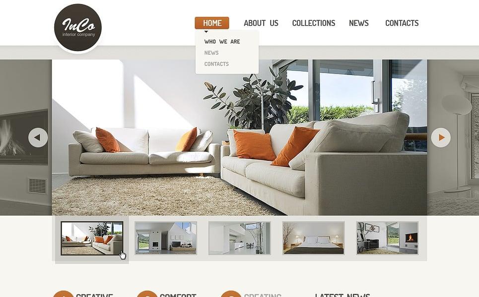 Responsive Website template over Interieur & Meubels New Screenshots BIG
