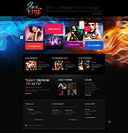 Night Club Website  Template 44380