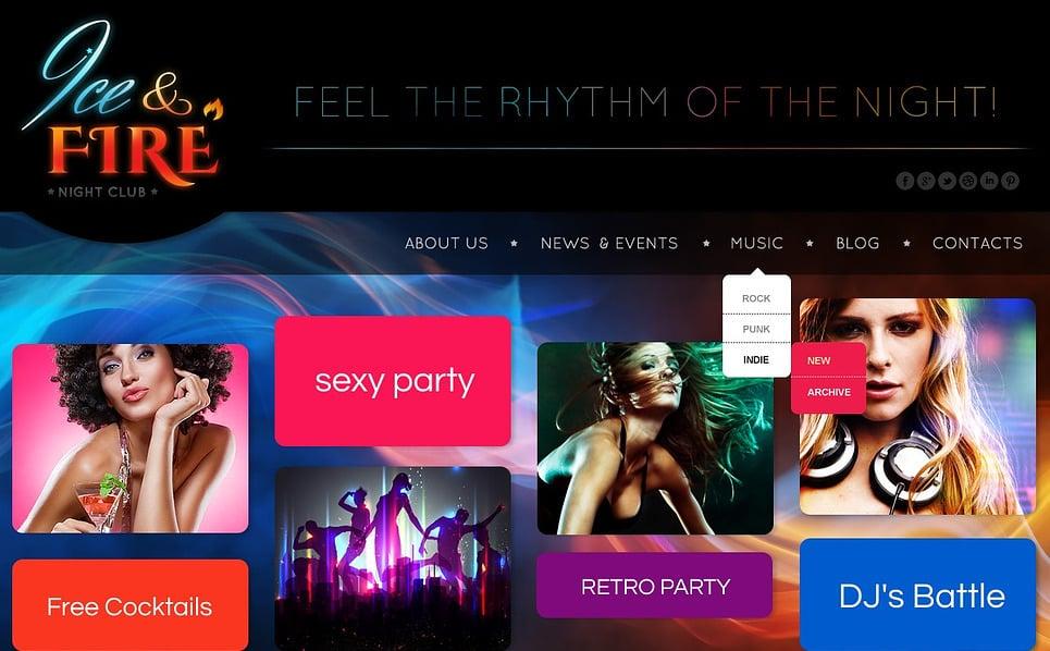 Responsywny szablon strony www #44380 na temat: klub nocny New Screenshots BIG