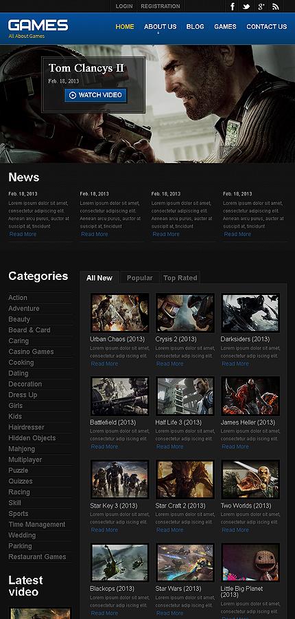 Games Website Template | Website Templates