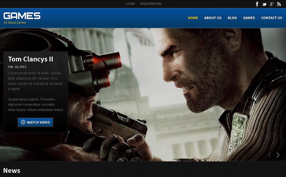 Responsive Website template over Spelletjes  New Screenshots BIG