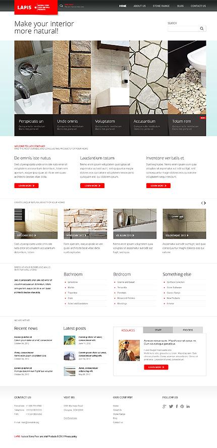 Joomla Theme/Template 44384 Main Page Screenshot