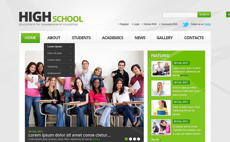 Reszponzív Egyetem Weboldal sablon New Screenshots BIG