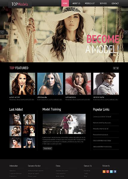 Responsywny szablon strony www #44399 na temat: agencja modelek Desktop Layout
