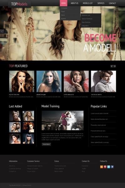 Model Agency Responsive Шаблон сайту