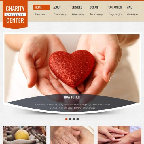Charity Children Center - Facebook HTML CMS Template