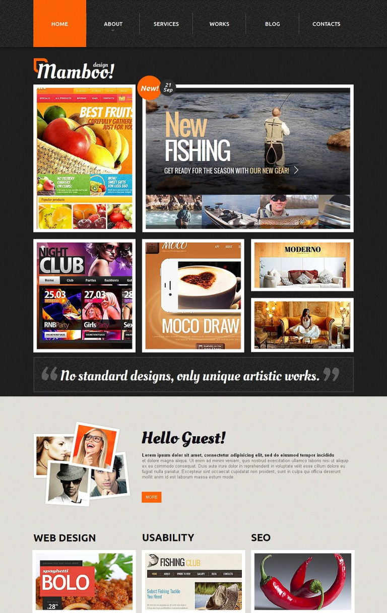 Design Studio Moto CMS HTML Template New Screenshots BIG