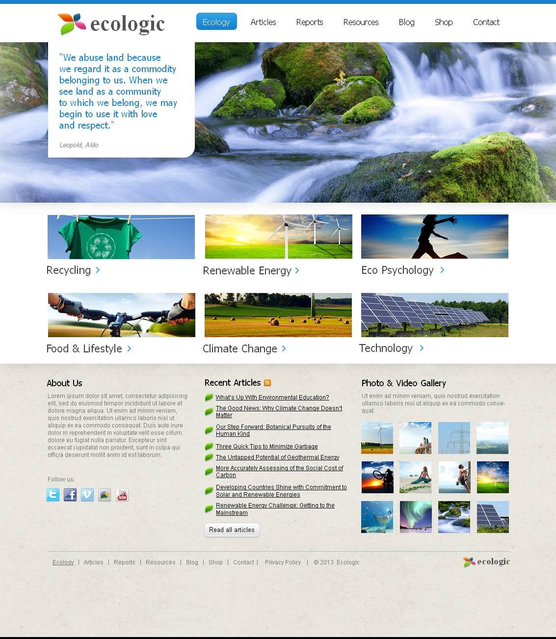 Environmental Moto CMS HTML Template