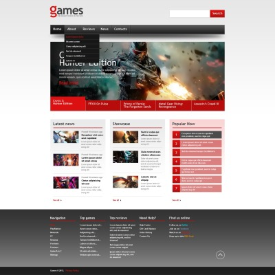 games website templates. Black Bedroom Furniture Sets. Home Design Ideas