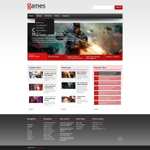 Games - Website Template based on Bootstrap