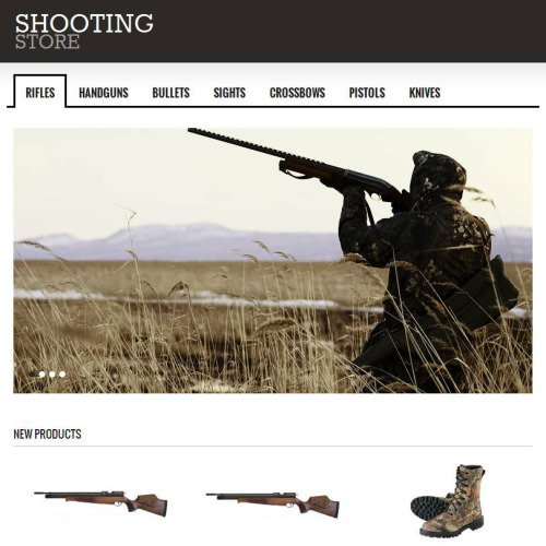 Shooting Store - Facebook HTML CMS Template