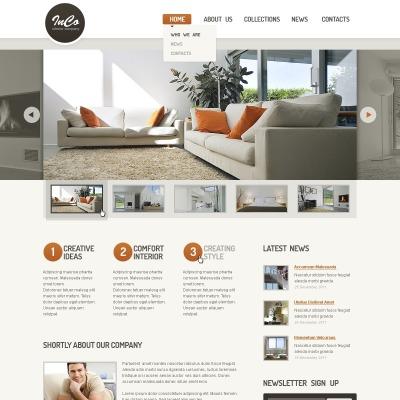 Interior & Furniture Responsive Website Template #44378