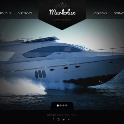 Yachting Moto CMS HTML šablona