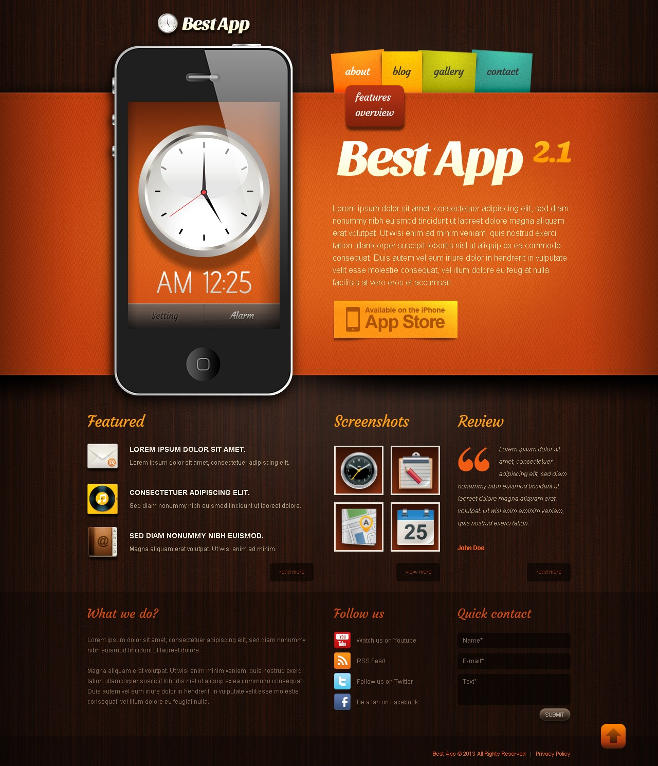 Mobile Apps Drupal Template