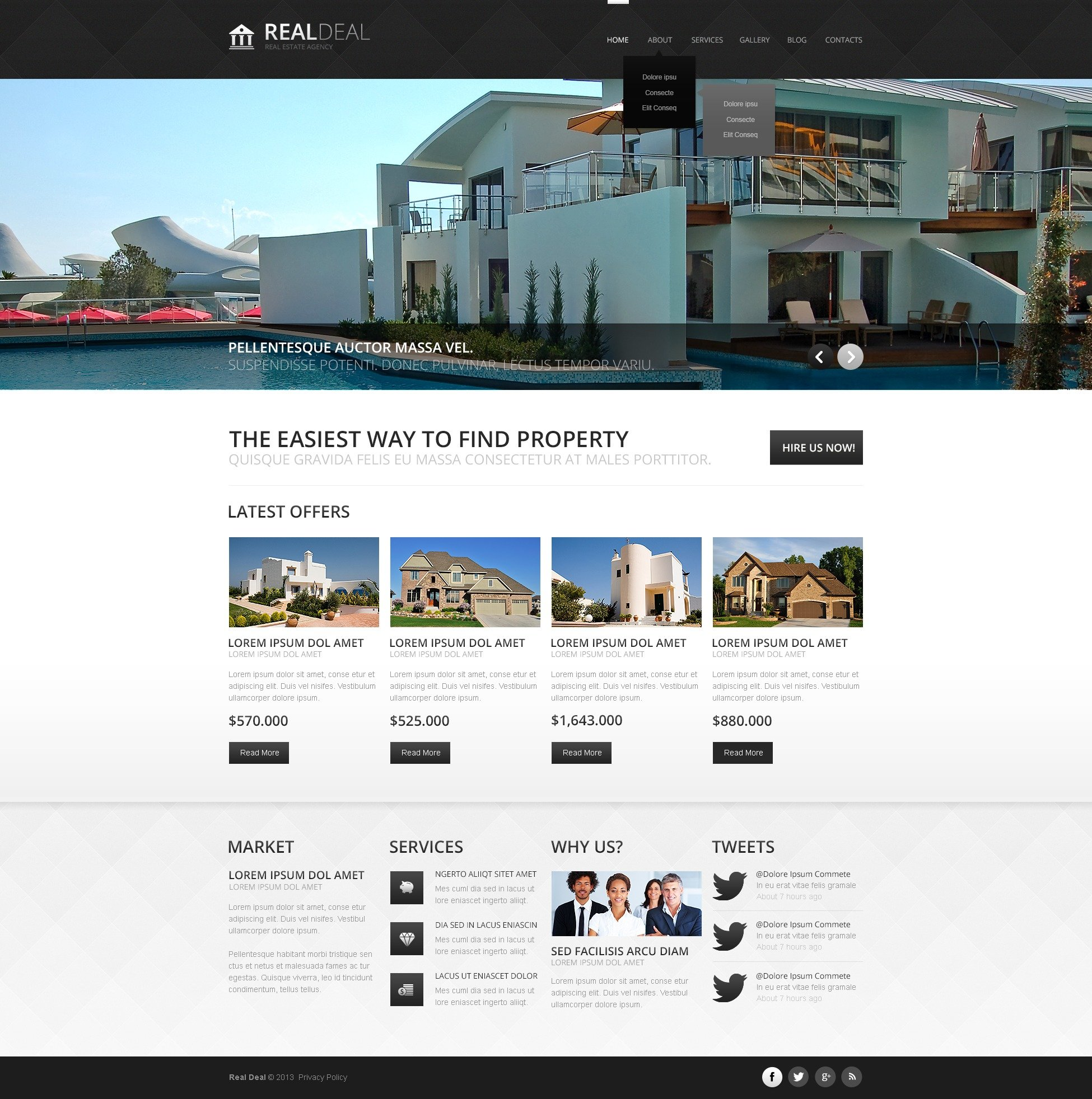 """Modern Real Estate Agency"" - адаптивний Joomla шаблон №44383 - скріншот"