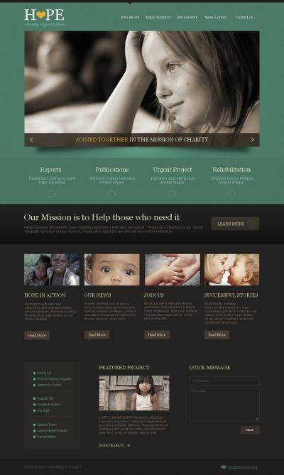 Moto CMS HTML Vorlage für Wohltätigkeit