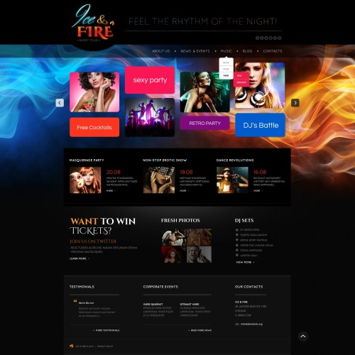Ice &Fire - Website Template based on Bootstrap