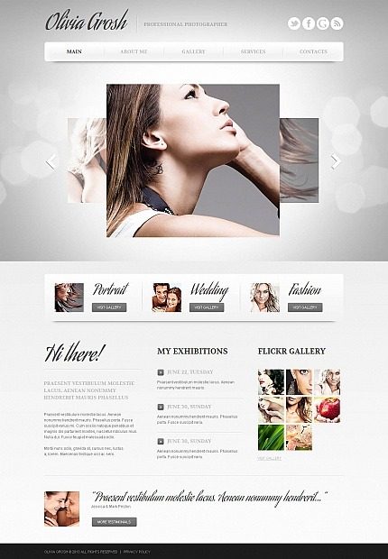 Photographer Portfolio Photo Gallery Template MotoCMS