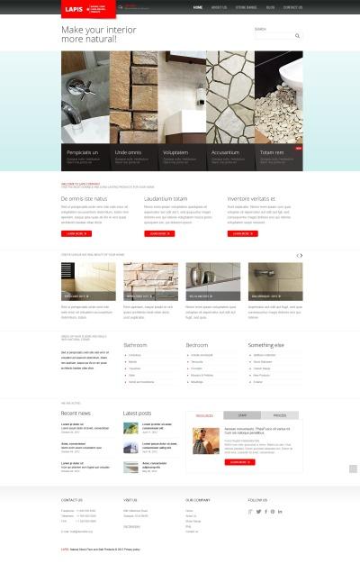 Responsive Plantilla Joomla #44384 para Sitio de  para Sitio de Diseño interior