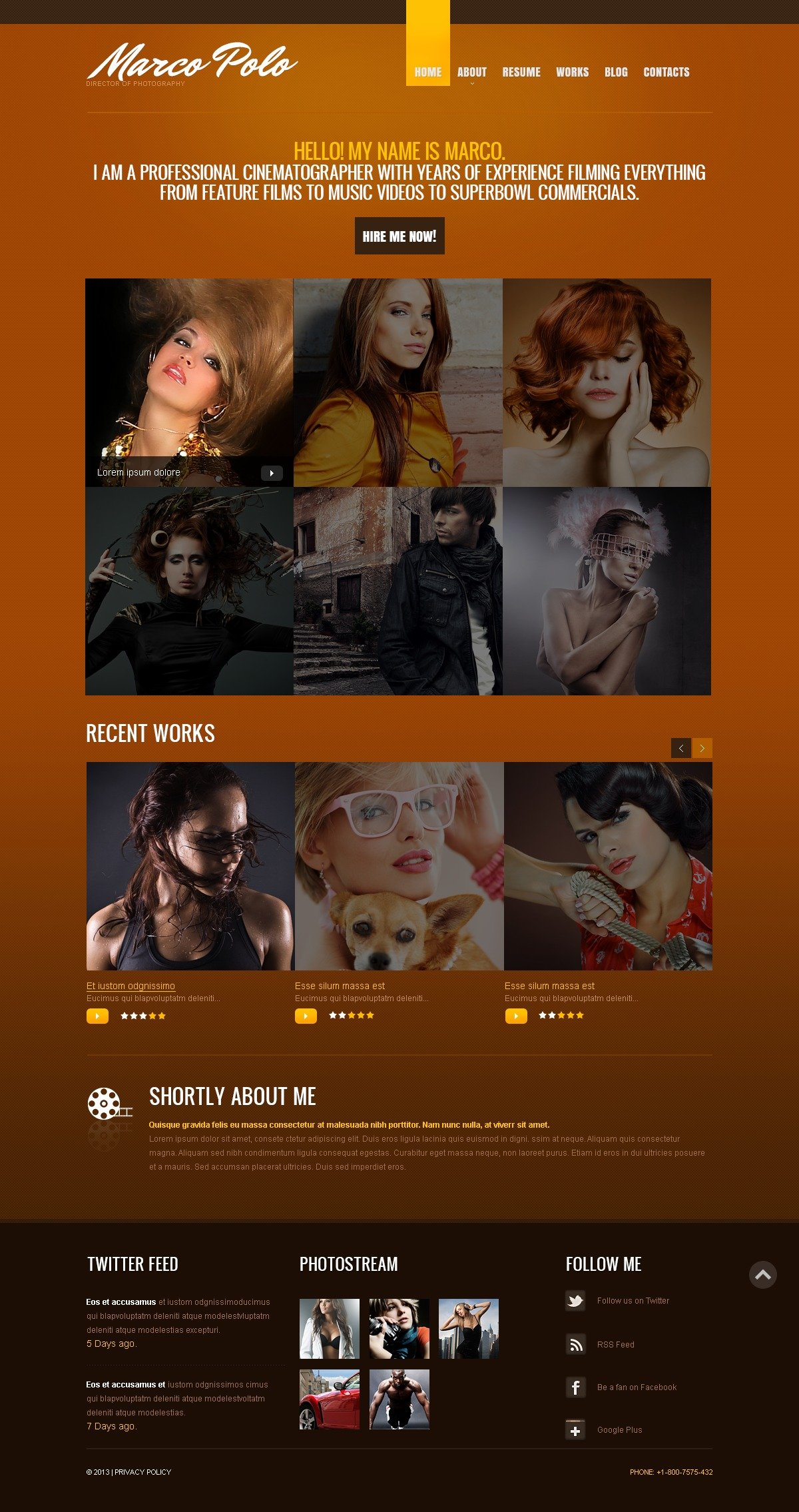 """""""Portfolio de photographe"""" thème Drupal  #44301"""