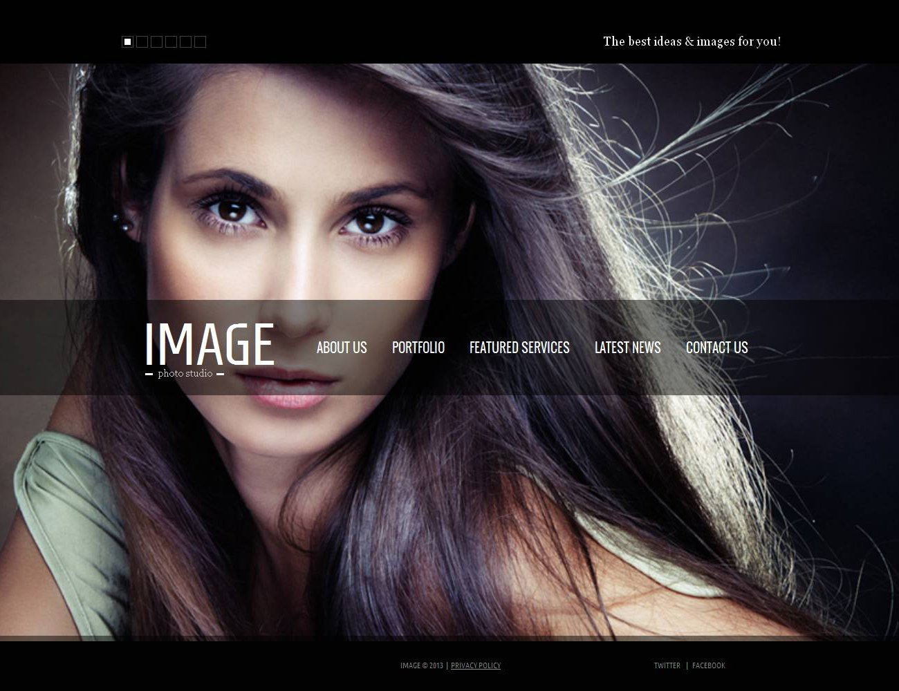 Premium Foto Galerij Template over Fotoatelier №44318 - screenshot