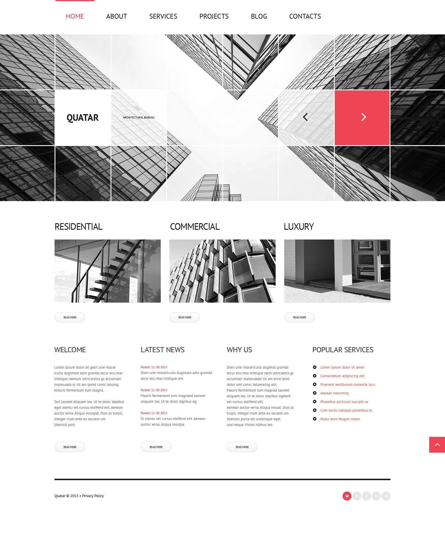 Responsive Architecture Services Wordpress #44333 - Ekran resmi
