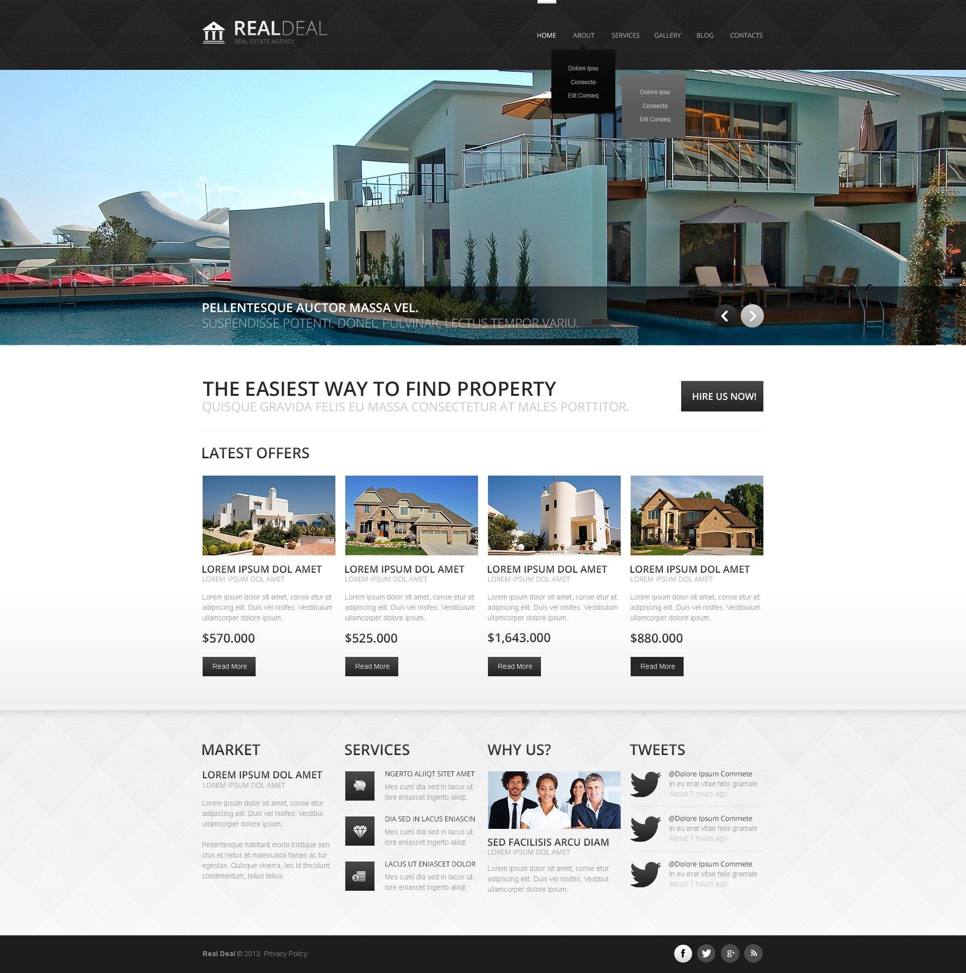 """Responzivní Joomla šablona """"Modern Real Estate Agency"""" #44383"""
