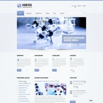 Science Lab Responsive Šablona Webových Stránek