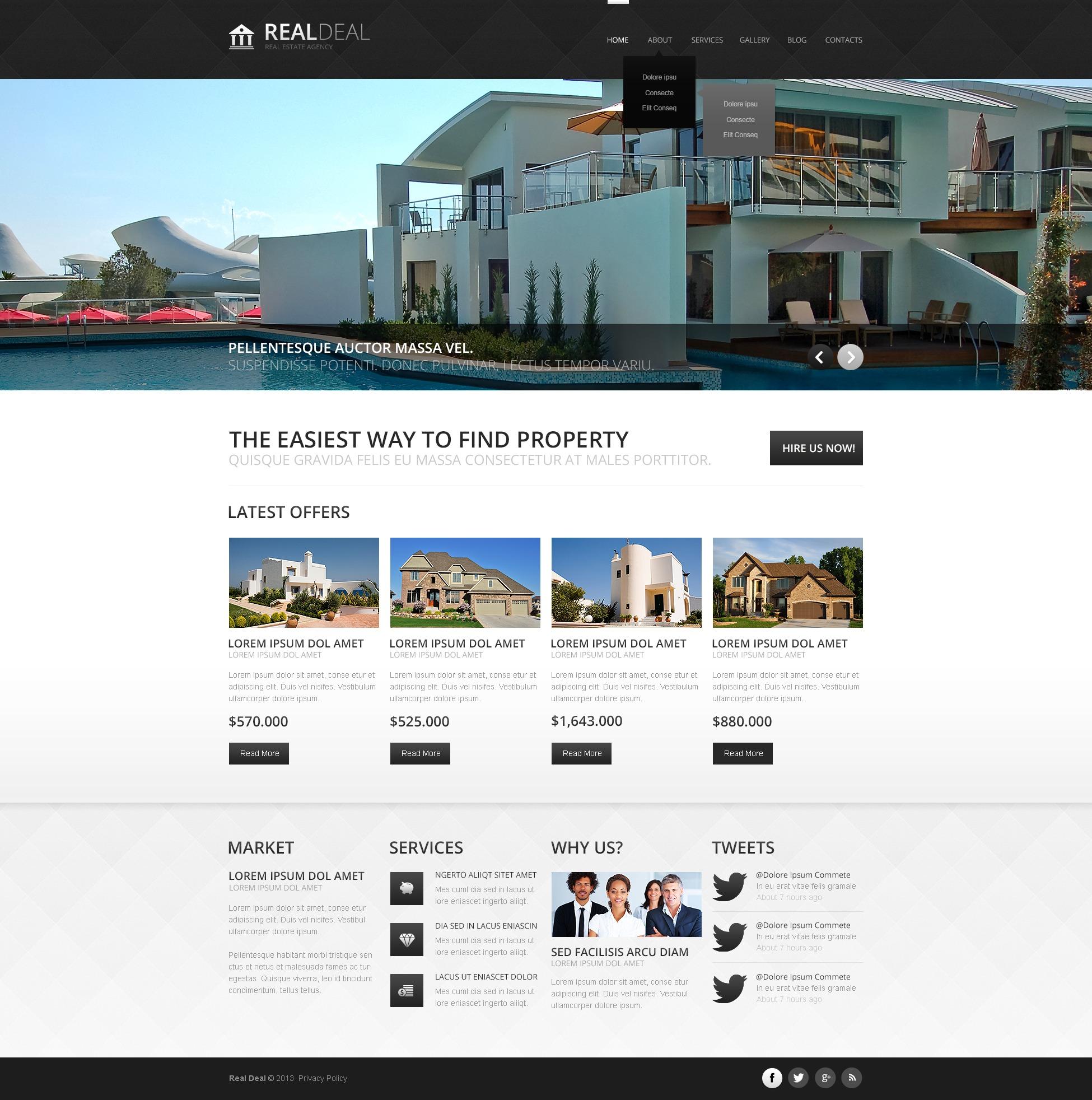 Reszponzív Modern Real Estate Agency Joomla sablon 44383