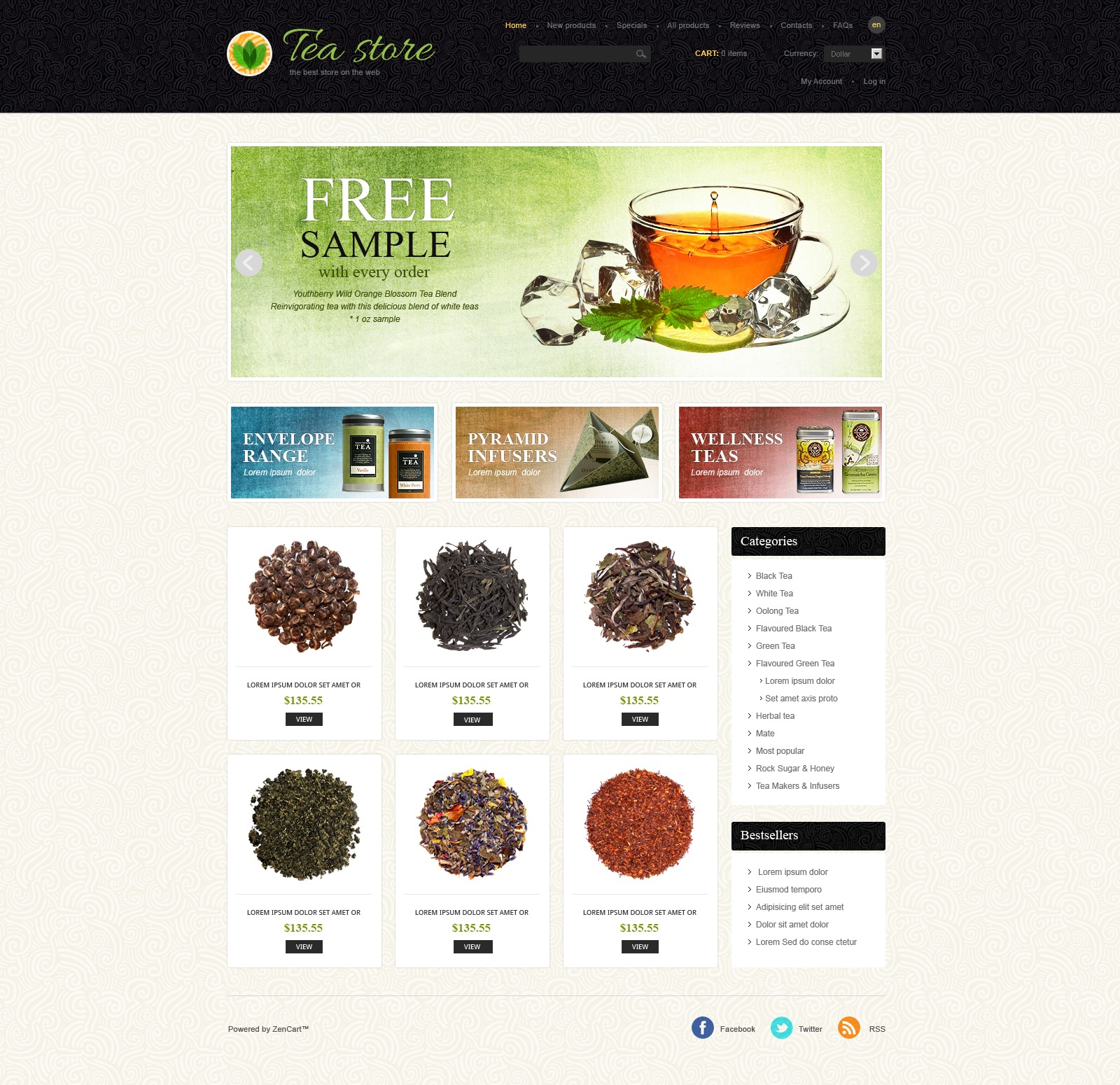 Tea Store ZenCart Template