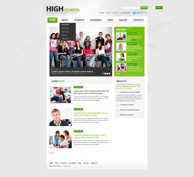 Flexível template Web №44398 para Sites de Universidades