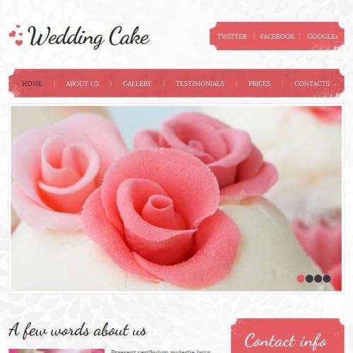 Wedding Cake - Facebook HTML CMS Template