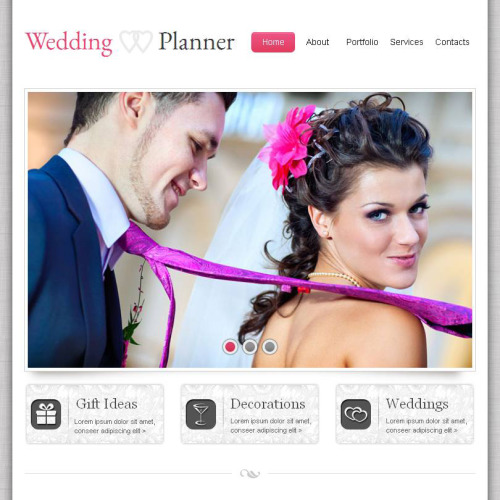 Wedding Planner - Facebook HTML CMS Template