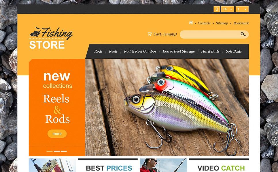 """Tema De PrestaShop """"Tienda de Pesca online"""" New Screenshots BIG"""
