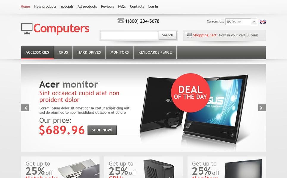 Bilgisayar Mağazası  Zencart Şablon New Screenshots BIG
