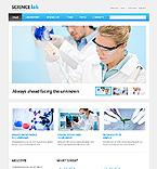 Science Website  Template 44425
