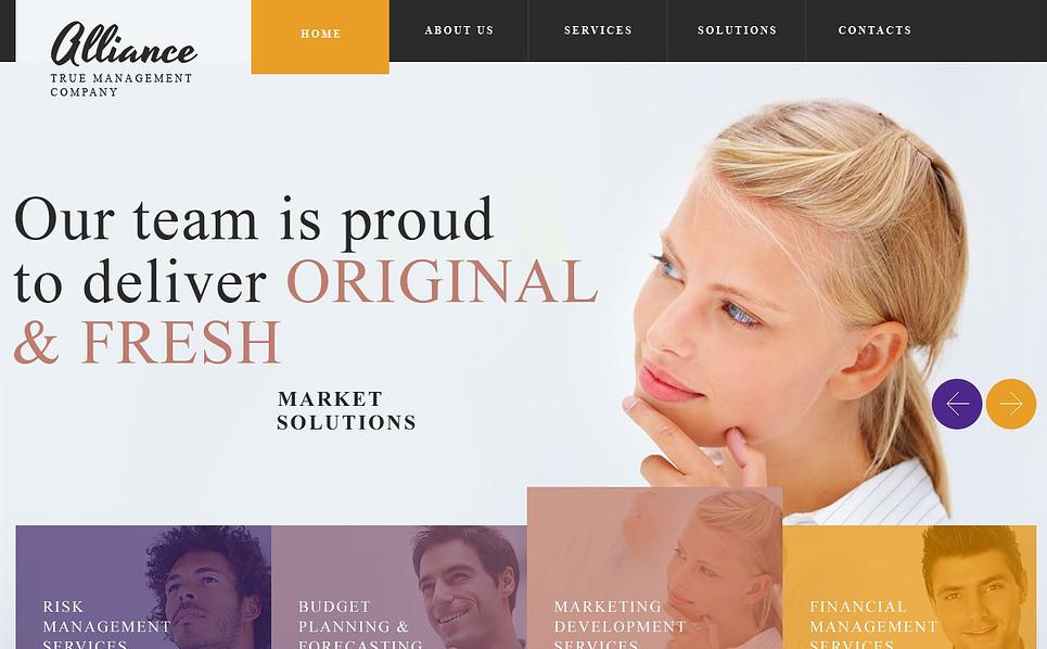 Template Web Flexível para Sites de Empresa de Administração №44427 New Screenshots BIG