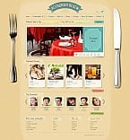 Cafe & Restaurant Flash CMS  Template 44432