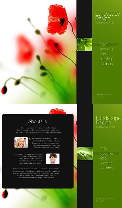 ADOBE Photoshop Template 44435 Home Page Screenshot