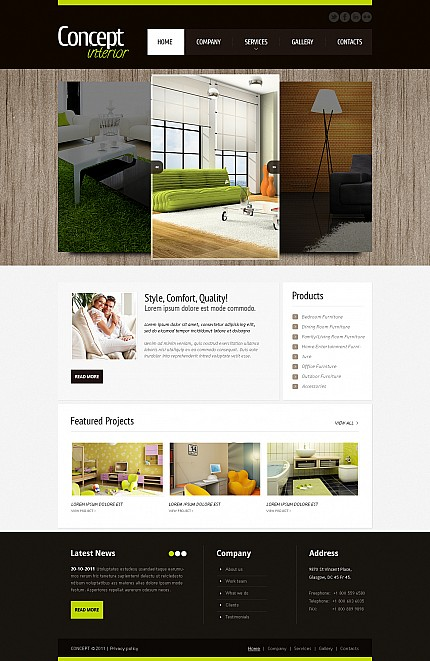 ADOBE Photoshop Template 44436 Home Page Screenshot