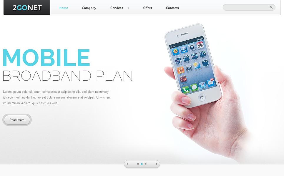 Responsywny szablon strony www #44441 na temat: Internet New Screenshots BIG