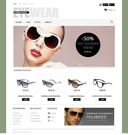 ADOBE Photoshop Template 44450 Home Page Screenshot