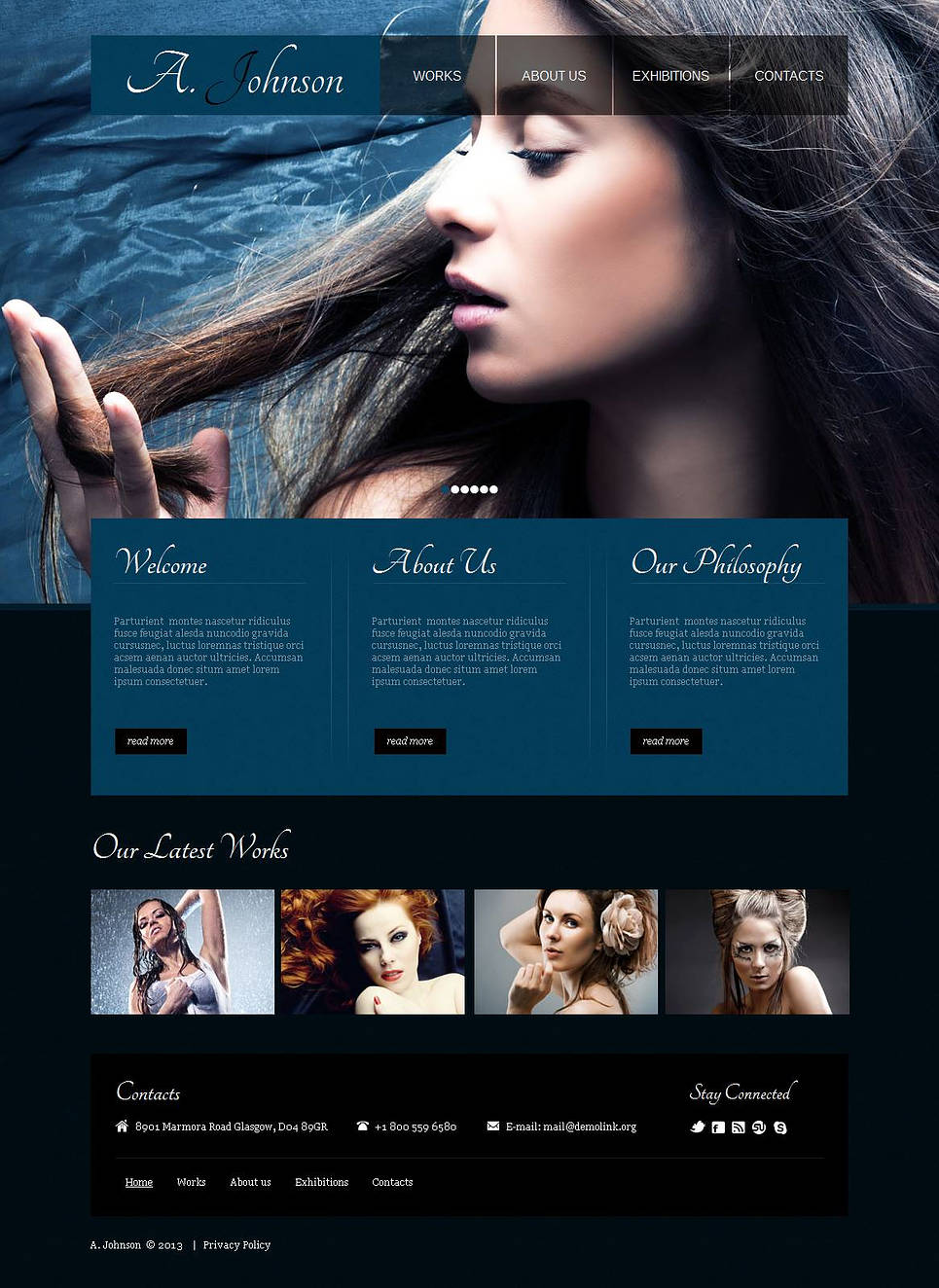 Photography Template with Large Sliding Gallery - image