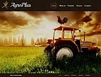 Agriculture Moto CMS HTML  Template 44452