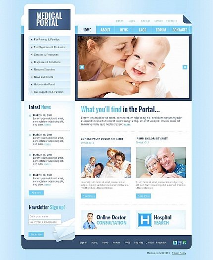 ADOBE Photoshop Template 44462 Home Page Screenshot